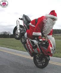 images père Noël à moto